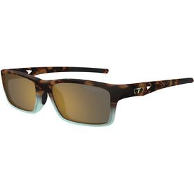 Tifosi Watkins Cykelbriller, matte blue tortoise - brown polarized